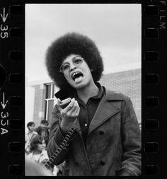 Controversial feminist and African-American activist and writer, Angela Davis (b. Jan. 26, 1944)