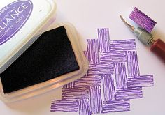 Creating texture with handmade stamps