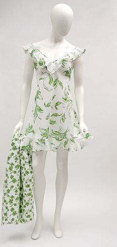 Scarlette nightgown In the Lilly of the Valley print, D. Porthault