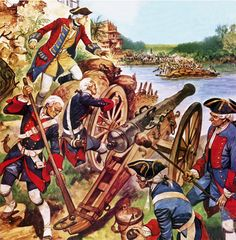 Robert Clive fires a cannon in the Siege of Arcot August to November 1751 British Soldier, British Army, Military Art, Military History, World History, Art History, Frederick The Great, Seven Years' War, The Siege