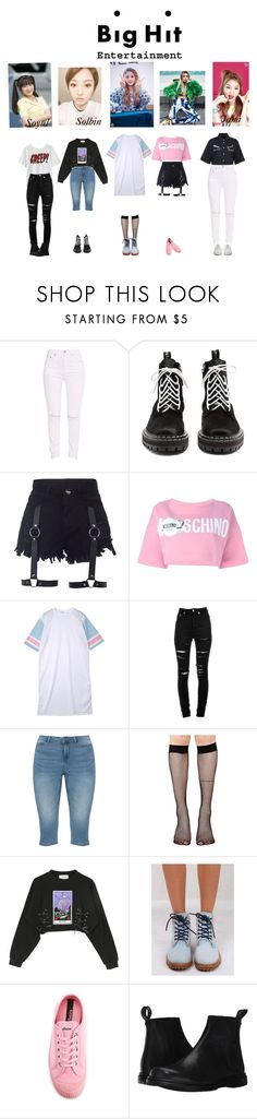 """""""Bighit Audition-LWS"""" by lws-official on Polyvore featuring Proenza Schouler, Moschino, House of Holland, Yves Saint Laurent, JunaRose, Music Legs, Timberland, Novesta, Dr. Martens and Zimmermann"""