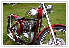 Lowbrow customer Jim Stone's 1969 BSA A65 chopper. So shiny!!!