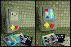 Crocheted Beemo with interchangeable game screens... - Tiny Cartridge - Nintendo DS, DSi, & 3DS News, Media, Videos, Imports, Homebrew, & Retro Junk