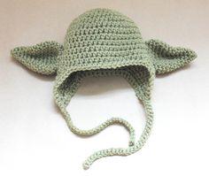 Crocheted Yoda Hat
