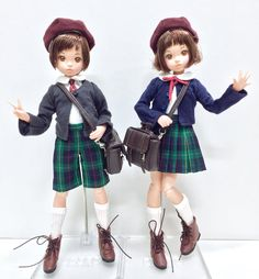 「PNXS聖ポートルダム初等部 制服セット」をベビチッチruruko男の子&女の子に着せてみました! rurukoはアゾンのXSサイズのお洋服を着用できます☆ #azonejp #ruruko