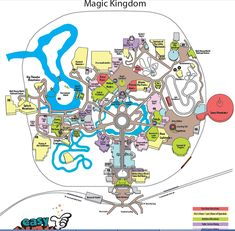 printable disney maps the best ive found online disney world cheat sheets maps touring plans and wait times easywdw