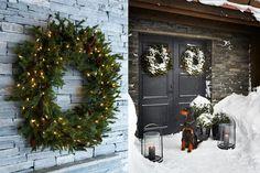 Christmas Diy, Christmas Wreaths, Xmas, Rough Wood, Myrtle, Log Homes, Warm Colors, Rustic, Interior Design
