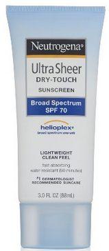 Look for Neutrogena Ultra Sheer sunblock in travel-sizes!
