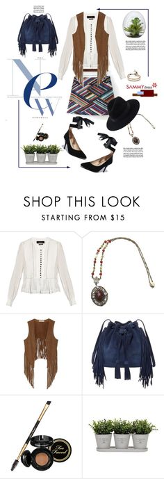 """""""Sammydress.com: New bohemian!"""" by hamaly ❤ liked on Polyvore featuring Isabel Marant, W118 by Walter Baker, BCBGMAXAZRIA, Too Faced Cosmetics, Torre & Tagus, Chan Luu and Garance Doré"""