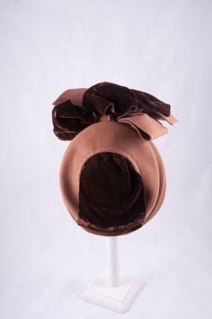 Chocolate felt with brown velvet G Howard Hodge hat -back