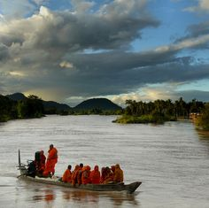 Raising Dolphin Conservation Awareness by Ben Visbeek. This photo was taken in 7/09 during a monk workshop to raise awareness of the critically endangered  irawaddy dolphins left in the Mekong River in Southeast Asia.