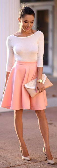 Peach And Cream Girly Fall Inspo by Hapa Time