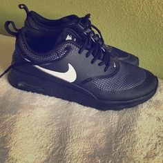 Nike Air Max Thea Comfortable running shoes. Only wore once. They can be laced up with anything. Nike Shoes Athletic Shoes