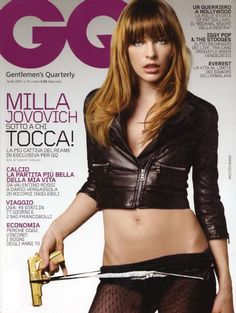 Milla Jovovich, by Satoshi Saikusa for GQ Italy - Milla Jovovich, Resident Evil Franchise, Gq Magazine Covers, Best Fashion Magazines, Tough Woman, Gorgeous Eyes, Beautiful Ladies, Beautiful Actresses, American Actress