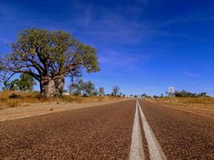 Never ending road, Northern Territory, Australia