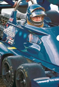Ronnie Peterson  driving the six-wheel Tyrrell P34B.