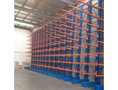 Cantilever rack is ideal for storing bulky items such as carpet rolls, lumber, pipes and tyres. #WarehouseRacking #StorageSystems #StorageRacking #Racking #IndustrialShelving