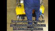 A person to operate fixed machine wall plaster machine. Automatic wall plaster machine , A person to operate fixed machine. Zhengzhou Sincola Machinery Co. Cement Render, Youtube Share, Construction Machines, Zhengzhou, Plaster Walls, Plastering, Music, Videos, People