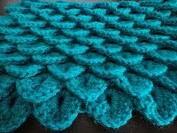 Crocodile crochet stitch--Awesome!!