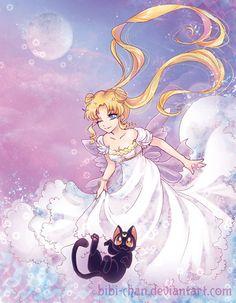 girlsbydaylight: : Queen Serenity : by bibi-chan
