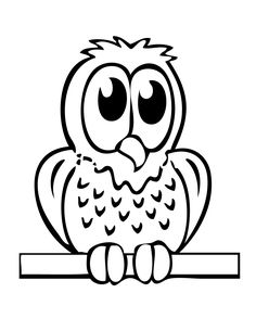 Zigzag the Owl Coloring Page | Owl, Fun projects and Coloring books