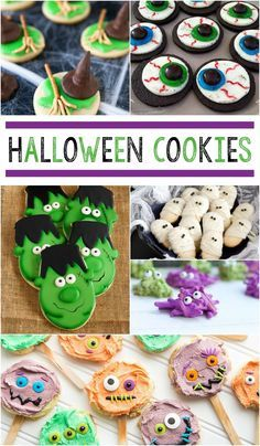Halloween cookie recipes for Halloween parties and Halloween treats! It just isn't Halloween without cookies! Check out these 25 Halloween Cookie recipes for spooky and delicious ideas for all of your Halloween parties! Halloween Cookie Recipes, Halloween Sugar Cookies, Halloween Desserts, Holidays Halloween, Halloween Kids, Halloween Party, Preschool Halloween, Halloween Items, Halloween Treats For School