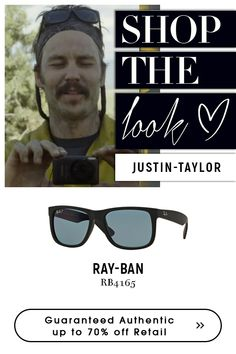 Justin Taylor with Rayban Sunglasses. Shop exclusive style that stands out with men's Traditional Frames, Ray Ban Men, Wayfarer Sunglasses, Black Rubber, Get The Look, Eyeglasses, Dark Blue, Ray Bans, How To Look Better