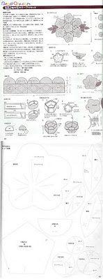 Lily-Baby-Shop: Flores na mesa - Amo Craft - Riscos/Moldes - PAP/Passo a passo