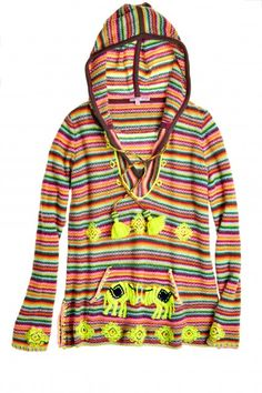 Kynthia Hand Embroidered Cashmere Hoodie | Calypso St. Barth