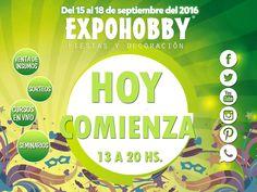 """Llego el día!! HOY COMIENZA EXPOHOBBY """"Fiestas y Decoración""""!!! Vení y encontrá todo lo que buscas!! #Expohobby #Fiestas #Decoración #Veni #EncontraLoQueBuscas #Buses #Talleres #VentaDeInsumos #MesasExpositoras #LosMejoresProfesionales #LasMejoresMarcas #Ambientaciones #Shows #CabinaSelfie #Sorteos #GrandesPremios #Veni  #YaLlega #Hoy #TengoGanasDe #IrAExpohobby #BuenJueves"""