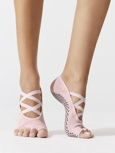 Elle Half Toe Leg Warmers + Socks in Ballet Pink by Toesox from Grip Socks, Foot Socks, Hunter Boots Outfit, Hunter Rain Boots, Timberland Style, Timberland Fashion, Fashionable Snow Boots, Hot High Heels, Workout Attire
