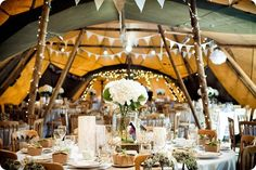 Real Wedding Recap Winter 2013: If You Go Down To The Woods Today… Paloma Blanca For A Real Teepee Wedding In Yorkshire – Claire