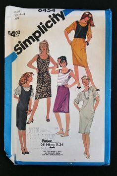 Simplicity Pattern 6454 Stretch Knit Size 6  8 by CasssOddsandEnds