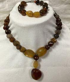 Faceted Carnelian and Citrine Necklace with by MonteforteDesigns  FREE SHIPPING 30% OFF