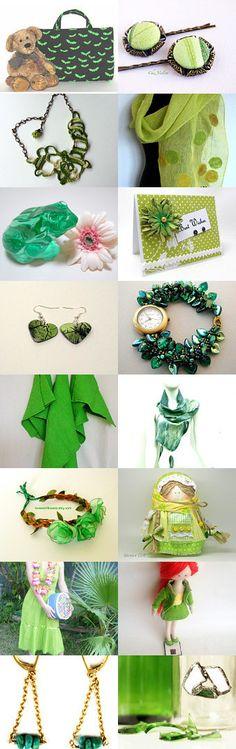 Green day by Coyawo on Etsy--Pinned with TreasuryPin.com #Etsyvintage #Estyhandmade #freshfinds