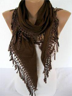 Brown Scarf-Elegant scarf  Fashion scarf  scarves