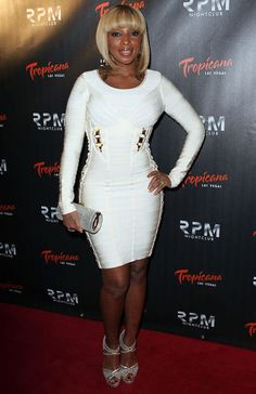 Mary J. Blige at Tropicana in Las Vegas New Year's celebration.