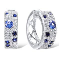 Blue & White Fashion 925 Sterling Silver Earrings