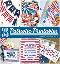 30 Patriotic Crafts & Projects