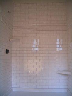 Amazing corner shower shelf tile Living Fencing Plumbing Contractors Home Remodeling cottage Traditional Expansive Ceramic Subway Tile, Subway Tile Kitchen, Glass Subway Tile, Bathroom Tile Gallery, Bathroom Floor Tiles, Bathroom Ideas, Bathtub Ideas, Shower Tiles, Subway Tile Showers