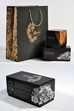 Goccia Packaging by Marcela Ramos, via Behance PD
