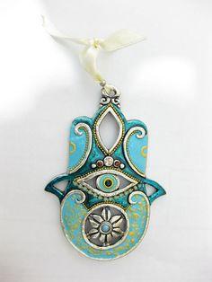 HAMSA Craft Judaica  Swarovski crystal Decor by IrinaSmilansky, $38.99