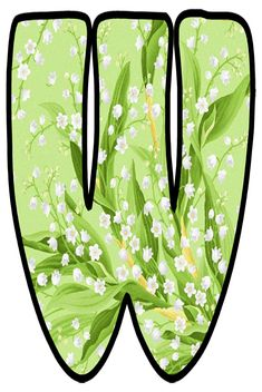 Lily Of The Valley, Bubble, Alphabet, Board, Green, Flowers, Monogram, Floral Letters, Colorful Flowers