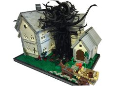 Built for the Bethel Park Library display. Based off the novel by self… Bethel Park, Lego Toys, Lego Architecture, Library Displays, Lego Instructions, Cthulhu, Legos, Novels, Creations