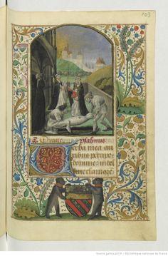 Titre : Horae ad usum Parisiensem Date d'édition : 1401-1500 Source : Bibliothèque nationale de France, Département des manuscrits, NAL 3113, 103r