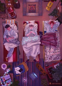 I'm really a big fan of Exo and one of their sub units had a broadcast with this beautiful interior decoration and i just had to draw them! Chanyeol, Baekhyun Fanart, Fanart Bts, Exo Anime, Anime Guys, Anime Art, Kpop Exo, Character Concept, Character Art