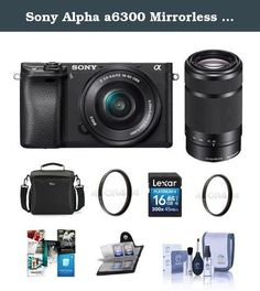 Sony Alpha a6300 Mirrorless Digital Camera Body with 16-50mm E-Mount Lens - Sony 55-210mm f/4.5-6.3 OSS Lens, Bundle with 16GB Class 10 SDHC Card, Camera Case, 40.5mm UV Filter, Software Package More. Sony introduces the latest addition to their award winning line-up of mirrorless cameras, the a6300. The camera boasts an unrivalled 4D FOCUS system that can lock focus on a subject in as little as 0.05 seconds, the world's fastest AF acquisition time. Additionally, the a6300 has an…