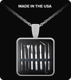 Embalming tools necklace