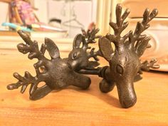 Stags Head Drawer Knob Shabby Chic Supplies by TheKnobShopUK
