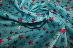 laminierte Baumwolle Wachstuch Sterne Stars von Stoff-Zaubereien auf DaWanda.com